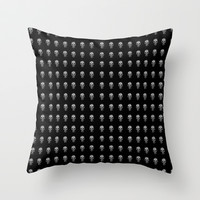 Polka Skull Throw Pillow by Deadly Designer
