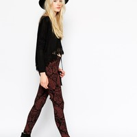 ASOS High Waist Leggings in Boho Paisely Print