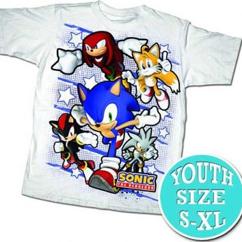 Sonic the Hedgehog Team Sonic Grid White T-shirt