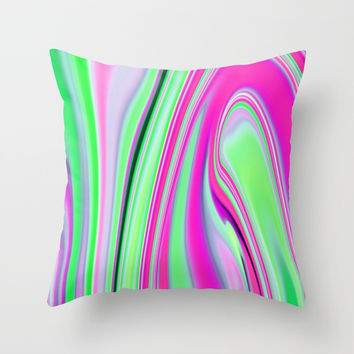 Abstract Fluid 8 Throw Pillow by Arrowhead Art