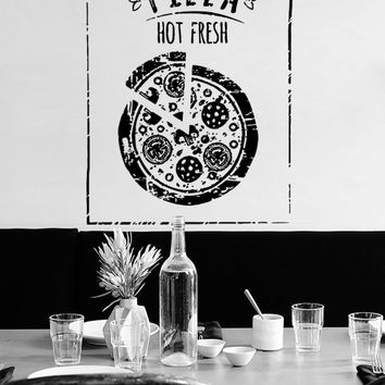 ik1039 Wall Decal Sticker pizza Pizzeria Italian Restaurant Italy