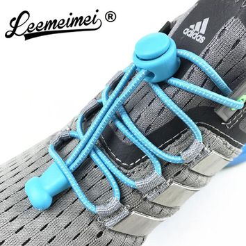 1c2788bbb7af Stretching Lock lace 22 colors a pair Of Locking Shoe Laces Elastic Sneaker  Shoelaces Shoestrings Running