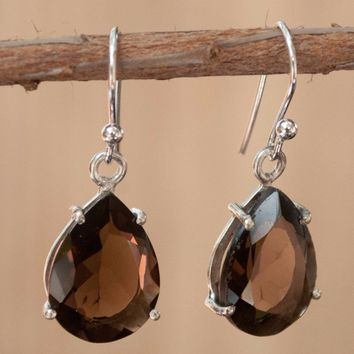 Cellina Earrings - Smoky Quartz (BJE028)