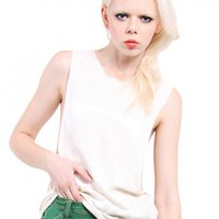 'Whatishotter' Distress Sleeveless Tank by Youreyeslie.com Online store> Shop the collection