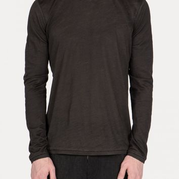 Leopold Bossert DIRA Ramie Inside Taped Overlock Raglan Back Long Sleeve T-Shirt
