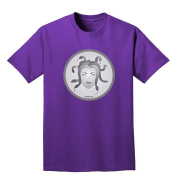 Medusa Head Coin - Greek Mythology Adult Dark T-Shirt by TooLoud