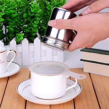 LS4G New Arrival Stainless Chocolate Shaker Cocoa Flour Icing Sugar Powder Coffee Sifter Coffee Milk Decoration Sieve