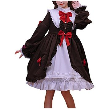 Partiss Womens Classic Sweet Lolita Blourse Vintage Dress Coat Bowknots