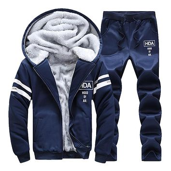 Sweatshirts Set Autumn Winter Sporting Suit Mens Sweat Suits Brand Men's Trainingsanzug Jacket + Pant