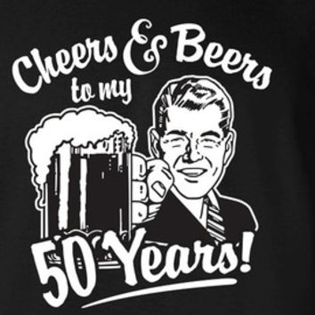 a4ae17100 50th Birthday Gift For Men and Women - Cheers and Beers to my 50 Years!