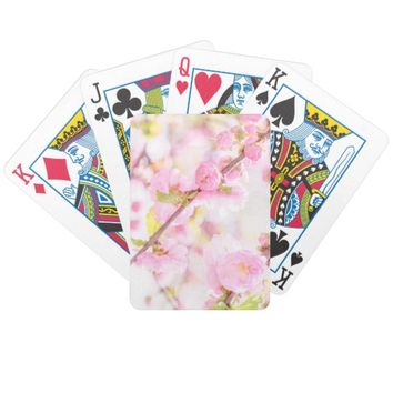 Pink sakura flowers - Japanese cherry blossom Bicycle Playing Cards
