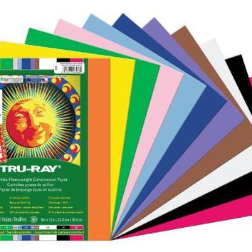"""Pacon Tru-Ray Assorted Colors Smart Stack Construction Paper, 9"""" W x 12"""" L (Pack of 240)"""