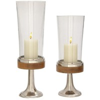 Beautiful Aluminum Wood Candle Holder