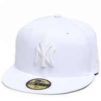 New York Yankees All White Everything 5950 Fitted Cap