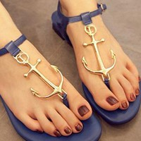 Beautiful Anchor Connecting  Thong Sandal