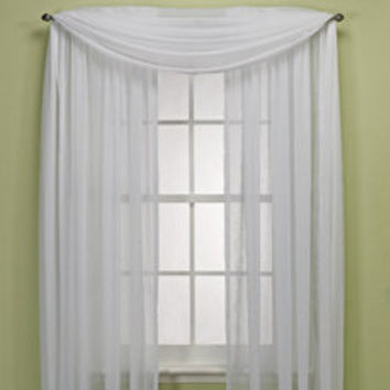 Crushed Voile Platinum Collection Sheer Rod Pocket Window Curtain Panels - Bed Bath & Beyond