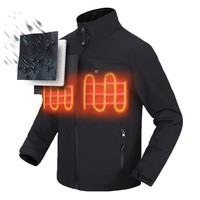 Mounchain Man Women Safe Electric Heating hiking Jacket Riding Warm Clothing S-XXXXL  with Battery and Charger cold climates
