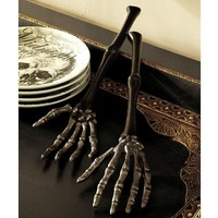 SKELETON HAND SERVING SET