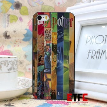 ETFC137 harry potter all books New Fashion Design Hard Black Skin for iPhone 5 5s 5g Case Cover