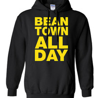 Bean Town All Day represent strong Shirt Printed T-Shirt Tee Shirt T Mens Ladies Womens Youth Kids Funny Boston Hockey Bruins Proud ML-50Y