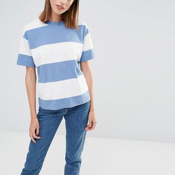 Selected | Selected Sisse T-Shirt in Oversized Stripe at ASOS