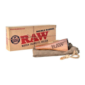 RAW Double Barrel Cigarette Holder-1 1/4