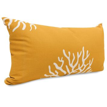 Yellow Coral Small Pillow