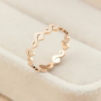 womens casual retro hollow out rose gold ring tail ring gift-140