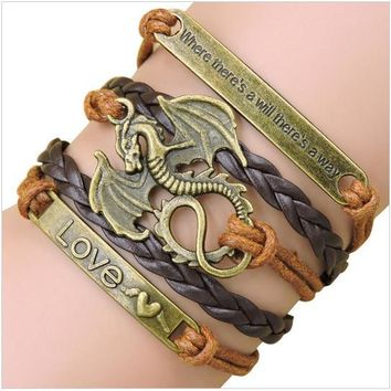 Rope Bracelet Brown Game of Thrones Tribute