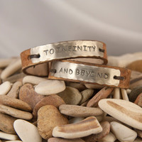 Leather cuff bracelet- to infinity and beyond  his and hers  pair - 1/2  inch