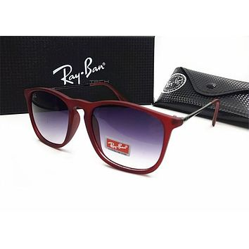 Ray Ban Popular Unisex Simple Summer Sunglasses Sun Shades Eyeglasses Glasses Red I-MYJ-YF