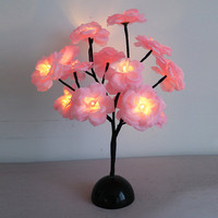 LED Branch Camellia Night Light Creative Table Lamp Bedroom Home Decor Christmas Gifts is Multicolor-NewChic Mobile