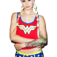 Undergirl Wonder Woman Boy Short Set Multi