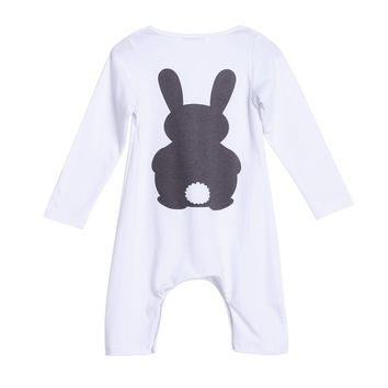 Newborn Baby Romper Boys Girls Baby Warm Rabbit/Fox Printed Rompers Jumpsuit Cotton Long Sleeve Spring Costumes Baby Clothes