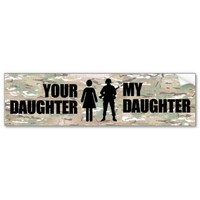 My Daughter is in the Military Bumper Sticker from Zazzle.com