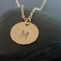 Letter M, Dainty Necklace, Personalized Necklace, Dainty Necklace, 14k Gold Filled Necklace, Bridesmaid Gift,Initials