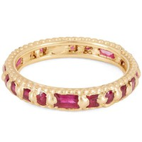 Gold Ramona Rapunzel Mixed-Cut Ruby Ring