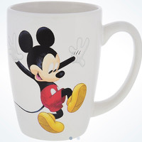 Disney Parks Mickey Silhouette and Signature Ceramic Coffee Mug New
