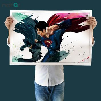Batman Dark Knight gift Christmas Watercolor Art Print Canvas Batman vs Superman Canvas Oil Painting Wall Art Pictures For Living Room Movie Poster Unframed AT_71_6
