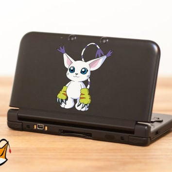 Gatomon Digimon decal sticker for Nintendo 3DS XL, 3DS, MacBook and all other devices! ma103