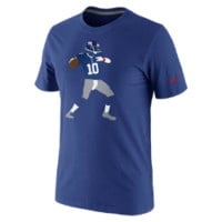 Nike Player Silhouette NFL New York Giants / Eli Manning Men's T-Shirt - Rush Blue