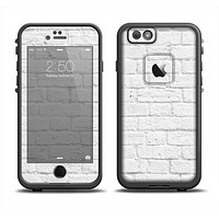 The White Brick Wall Skin Set for the Apple iPhone 6 LifeProof Fre Case
