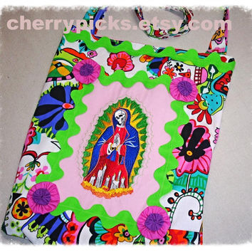 Dia De Los Muertos/Day of the Dead/Our Lady of Guadalupe/Tote Bag/Diaper Bag/Book Bag