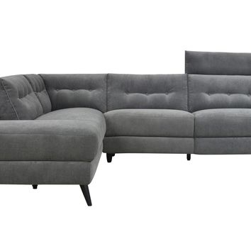 Beaumont Power Recliner Sectional Sofa Left | Dark Grey
