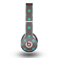 The Gray & Blue Polka Dot Skin for the Beats by Dre Original Solo-Solo HD Headphones