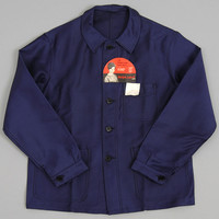 old hickorees - vintage deadstock 1950s 1960s bleu de travail jacket with tags adolph lafont brand