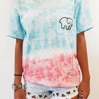 Unique Tie-dyed Elephant T-Shirts for Women