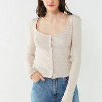 UO Dayton Button-Down Thermal Top | Urban Outfitters
