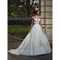 Casablanca Bridal 2077 Strapless Ball Gown Sample Sale Wedding Dress