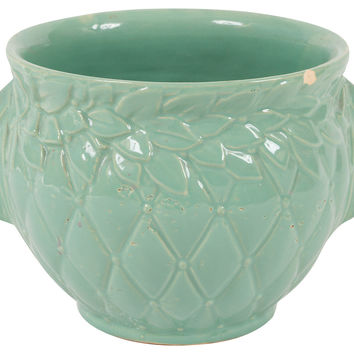 McCoy Pottery Sea-Green Urn Bowl
